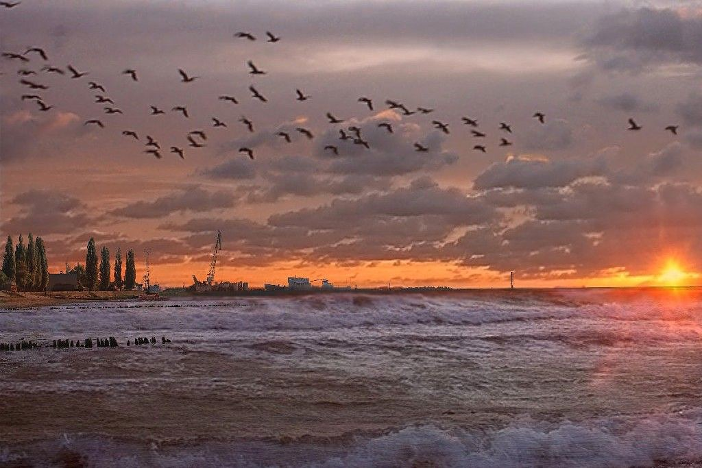 Закат перед штормом