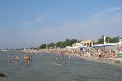 Пляж в районе бронекатера