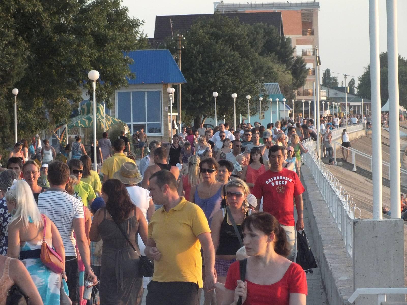 Набережная Приморско-Ахтарска, день города
